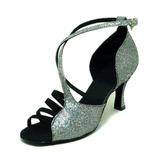 Женщины Мерцающая отделка Сандалии Латино Бальные танцы Обувь для танцев (053008215)