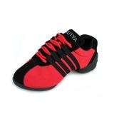 Mulheres Lona Tênnis Treino com Aplicação de renda Sapatos de dança (053056416)