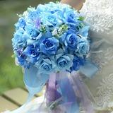 Бабочка дизайн Круглый атласная Свадебные букеты (124032103)