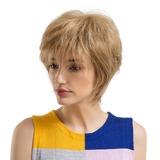 Lige Syntetiske Human Hair Parykker (219178871)