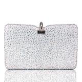Elegant Silk/Crystal/ Rhinestone Clutches/Minaudiere (012204121)