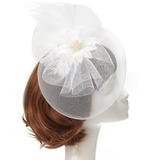 Charming Feather/Net Yarn Fascinators (196152949)