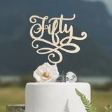 Anniversary/Bursdag Akryl/Wood Kake Topper (119205820)