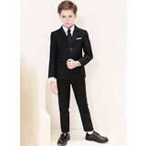 Jongens 5 stuks Klassiek Pakken voor ringdragers /Page Boy Suits met Jas overhemd westen Broek Stropdas (287204960)