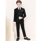 Boys 5 Pieces Classic Ring Bearer Suits /Page Boy Suits With Jacket Shirt Vest Pants Tie (287204960)