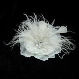 Charmosa Cristal/Pena/Cetim Flores & penas (042025476)