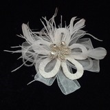 Klassiek Strass/Feather/Tule Bloemen & Veertjes met Strass (042025405)