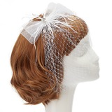 Mode Netto garen/Feather Fascinators met Strass/Venetiaanse Parel (042057566)