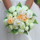 Round Plastic Bridal Bouquets (Sold in a single piece) - (123182166)