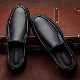 Мужская кожа U-Tip вскользь Men's Loafers (260187169)