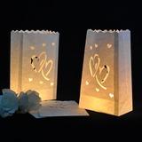 Niza Diseño corazón papel Luminaria (juego de 4) (131047715)