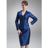 Платье-чехол V-образный Длина до колен Тафта Платье Для Матери Невесты (008006486)