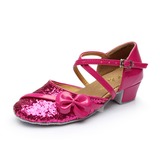 Детская обувь Мерцающая отделка На каблуках Бальные танцы с Ремешок на щиколотке Обувь для танцев (053053090)