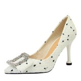 Women's Fabric Others Pumps With Rhinestone Bowknot shoes (085203365)