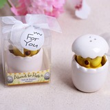 Cute Animal Ceramic Salt & Pepper Shakers With Ribbons (Set of 20) (051203310)