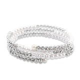 Charming Alloy/Platinum Plated With Crystal Ladies' Bracelets (011053741)