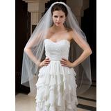 Two-tier Waltz Bridal Veils With Cut Edge (006035734)