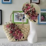Невеста Подарки - увлекательные шелковые плетеная соломы Затем Ваг соломенная шляпа (255206205)