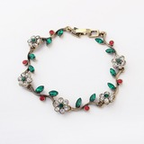Романтические цветы сплав с горный хрусталь женская браслеты (011035276)