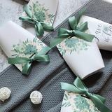 Довольно цветочная тема сумка форму картона бумаги Мешочки с Ленты (набор из 30) (050203406)