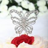 Красивейшая бабочка Хром Свадебный душ Фигурки для торта (119030818)