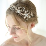 Classic Rhinestone Headbands With Rhinestone/Venetian Pearl (Sold in single piece) (042192926)