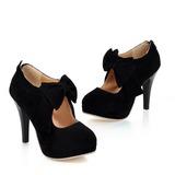Mulheres Camurça Salto agulha Bombas Plataforma Fechados Bota no tornozelo com Da curva Zíper sapatos (088022874)