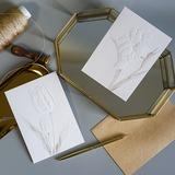 Modern Style/Style Florale Pli latéral Cartes d'anniversaire/Merci des cartes/Cartes de voeux (114205166)