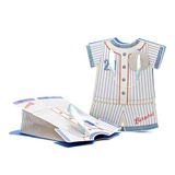 Baby Dress Design Cuboid Favor Bags With Ribbons (050052048)