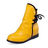 Couro Plataforma Botas na panturrilha sapatos (088052893)