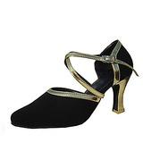 Женщины кожа нубук На каблуках На каблуках Современный с Ремешок на щиколотке Обувь для танцев (053013577)