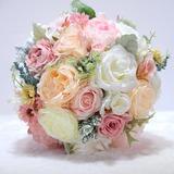 Round Satin/Emulational Berries Bridal Bouquets/Bridesmaid Bouquets - (123198738)