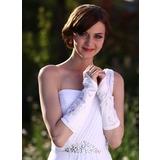 Elastische Satin Elbow Lengte Bruids Handschoenen (014003779)