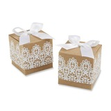Classic Cubic Favor Boxes With Ribbons (Set of 12) (050054563)