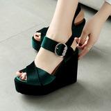 Vrouwen Wedge Heel Sandalen met Gesp schoenen (087115587)
