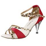 Mulheres Cetim Saltos Sandálias Latino com Salto de joias Sapatos de dança (053020320)