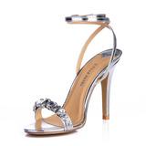 Vrouwen Kunstleer Stiletto Heel Sandalen Slingbacks met Strass schoenen (087015254)