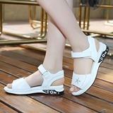 Fille de Unisexe À bout ouvert talon plat Chaussures plates avec Velcro (207204366)