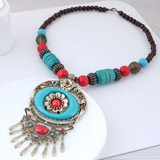 Beautiful Alloy Resin Women's Fashion Necklace (137178042)