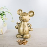 Golden Mouse Piggy Bank Birthday Present Wedding Gift (Sold in a single) (051178628)