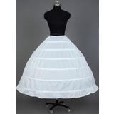 Women Nylon Tea-length 1 Tier  Petticoats (037031007)