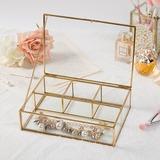 простой сплав/стекло женские Коробка ювелирных изделий (011200614)