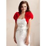 Korte Mouw Faux Fur Speciale gelegenheden Wrap (013020429)