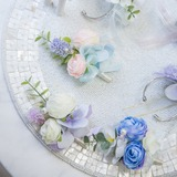 Lovely Free-Form Satin Boutonniere (Sold in a single piece) - (123177917)