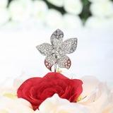 Flor em forma Cromado Casamento Decorações de bolos (119030820)