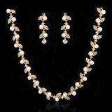 Luminoso Liga com Pérola/Cristal Senhoras Conjuntos de jóias (011027554)