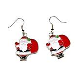 Christmas Santa Alloy/Coloured Glaze Ladies' Earrings (011057623)