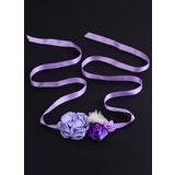 Beau/Fleuriste Satiné Ceintures avec Une fleur (015200713)