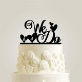 Personalized We Do Acrylic Cake Topper (119187777)