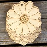 Nizza/Kaunis/Kukka suunnittelu Nizza/Lovely/Kaunis Puinen Häät Koristeet (sarja 10) (131178934)
